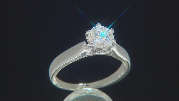 Moissanite Platineve Ring 1.00ctw D.E.W