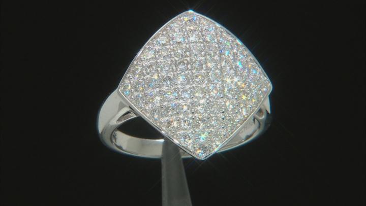 Moissanite Platineve Ring 1.83ctw D.E.W