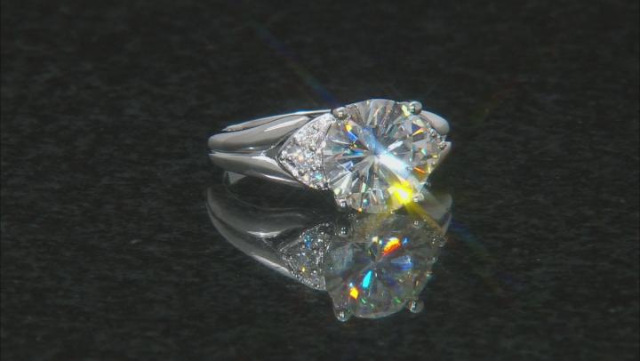 Moissanite Platineve Ring 3.74ctw D.E.W