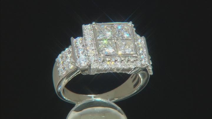 Moissanite Platineve Ring 2.68ctw D.E.W
