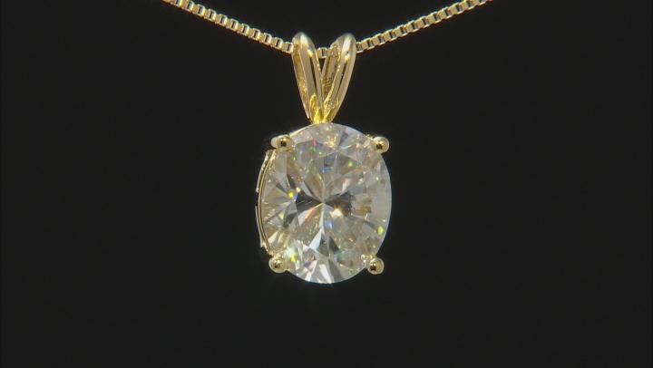 Moissanite 14K Yellow Gold Over Silver Pendant 5.80ctw D.E.W