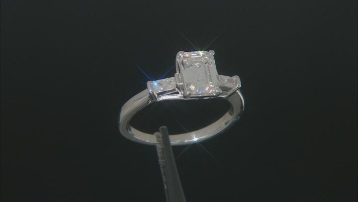 Moissanite Platineve Ring 1.93ctw D.E.W
