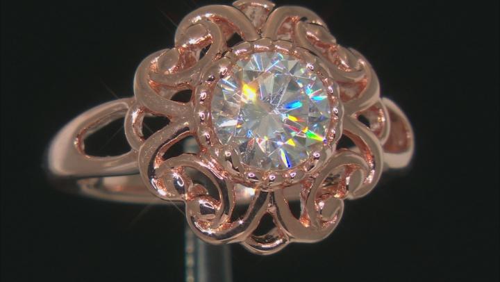Moissanite 14k Rose Gold Over Silver Ring 1.20ctw DEW