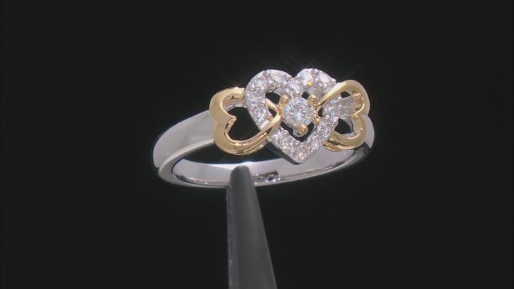 Moissanite Two Tone Ring .34ctw DEW