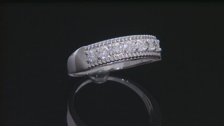 Moissanite Platineve Ring .70ctw D.E.W
