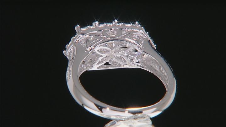 Moissanite Platineve Ring 2.26ctw D.E.W