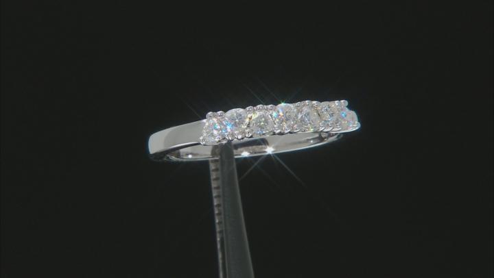 Moissanite Platineve Ring .35ctw D.E.W