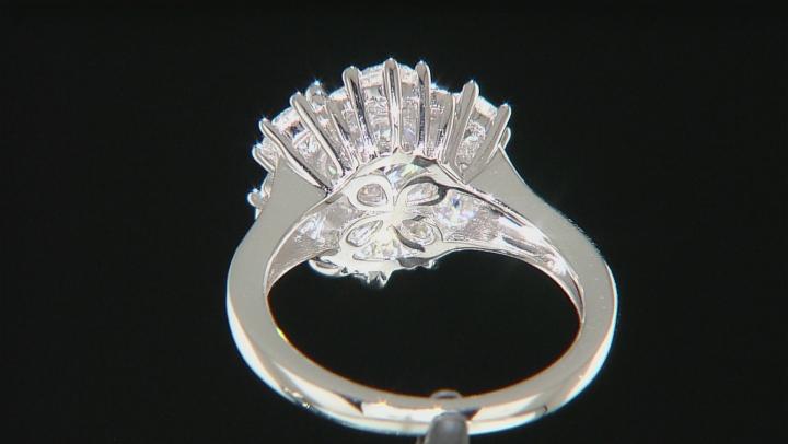 Moissanite Platineve Ring 3.34ctw D.E.W