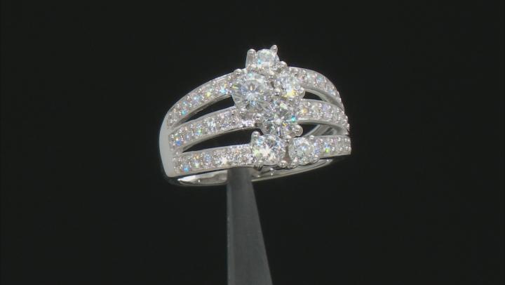 Moissanite Platineve Ring 1.64ctw D.E.W