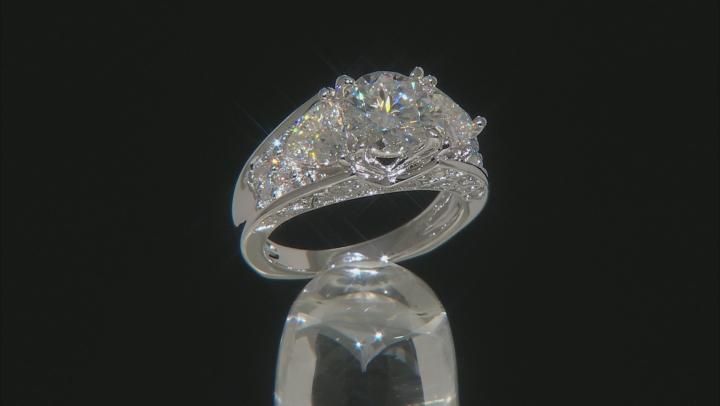 Moissanite Platineve Ring 4.02ctw D.E.W