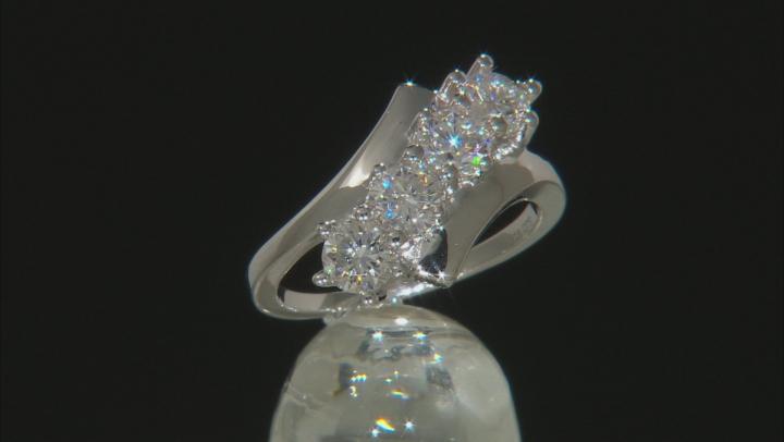 Moissanite Platineve Ring 1.32ctw D.E.W