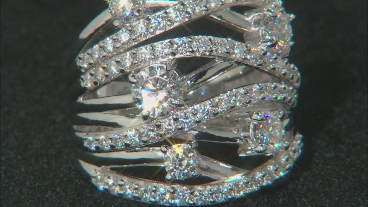 Moissanite Platineve Ring 2.48ctw D.E.W