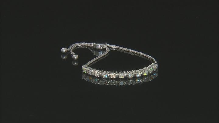 Moissanite Platineve Adjustable Bracelet 1.43ctw D.E.W