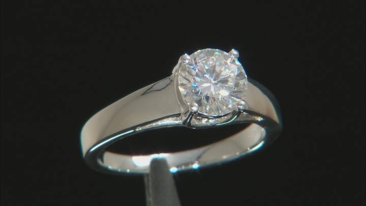 Moissanite Platineve Ring 1.50ct D.E.W