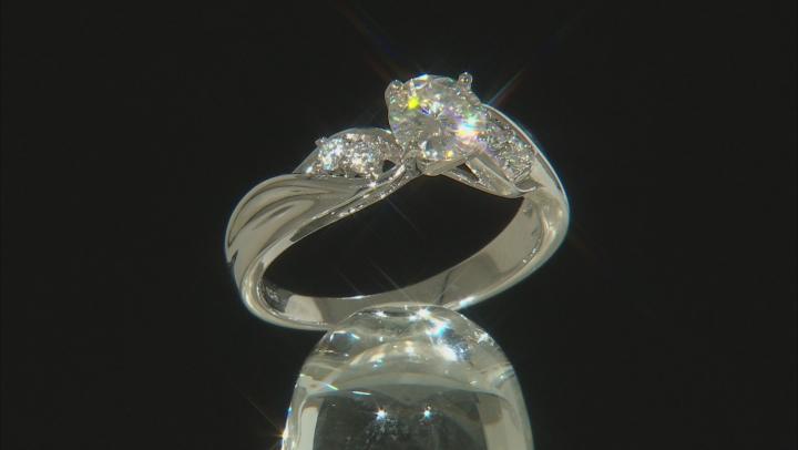 Moissanite Platineve Ring .92ctw D.E.W