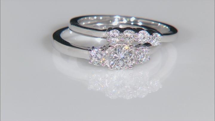 Moissanite Platineve Bridal Set 1.00ctw D.E.W