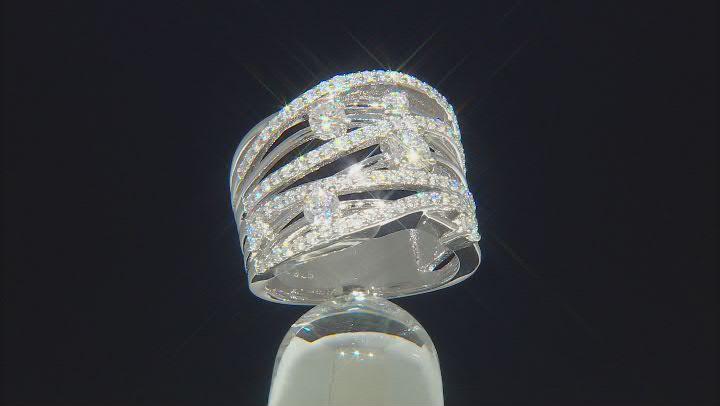 Moissanite Platineve Ring 1.53ctw D.E.W
