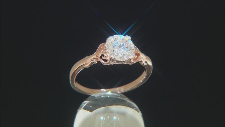 Moissanite 14k Rose Gold Over Silver Ring 1.20ct DEW