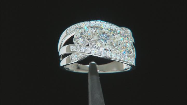Moissanite Platineve Ring 2.32ctw D.E.W