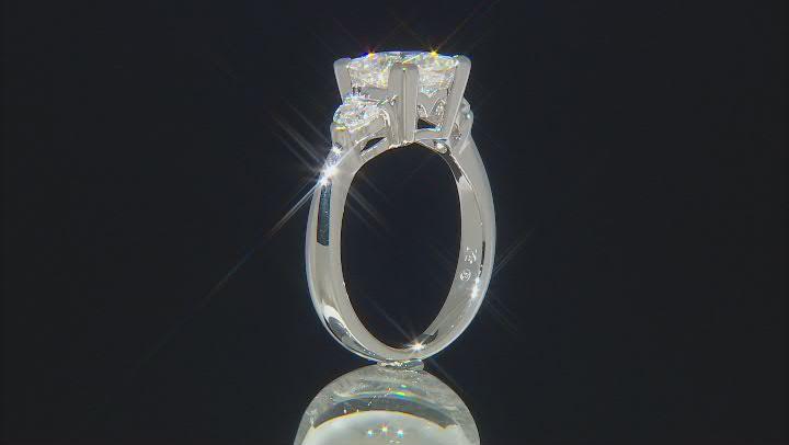 Moissanite Ring Platineve 2.56ctw DEW
