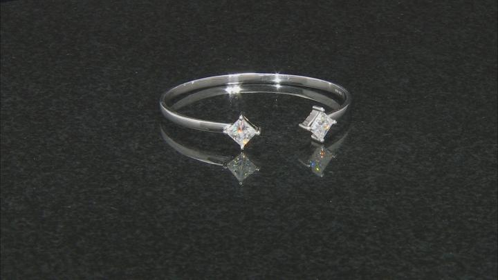 Moissanite Fire® 3.60ctw Diamond Equivalent Weight Princess Cut Platineve™ Bracelet