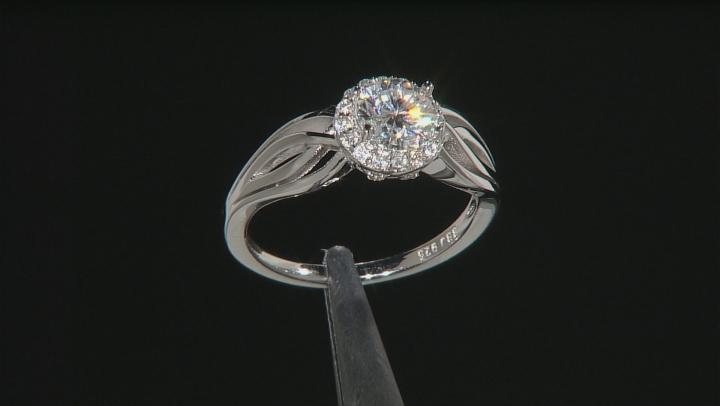 Moissanite Platineve Ring 1.20ctw D.E.W