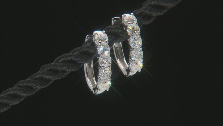 Moissanite Platineve Hoop Earrings 1.30ctw D.E.W