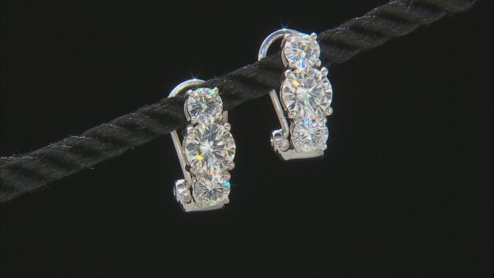 Moissanite Platineve Earrings 3.32ctw DEW