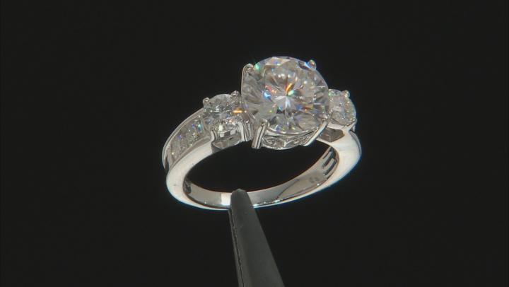 Moissanite Platineve Ring 4.66ctw DEW