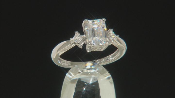 Moissanite Platineve Ring 1.95ctw DEW