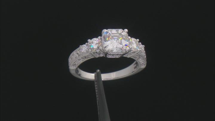 Moissanite Platineve ring 3.74ctw DEW