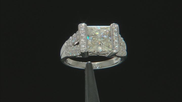 Moissanite Platineve Ring 4.86ctw DEW