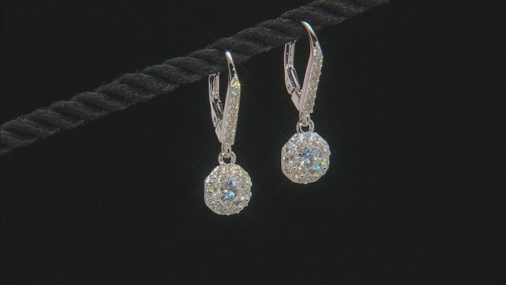 Moissanite Platineve Earrings 1.44ctw DEW