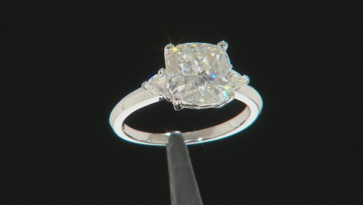 Moissanite Platineve Ring 3.48ctw DEW.
