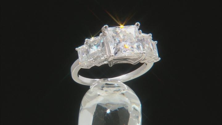 Moissanite Platineve Ring 5.16ctw DEW.