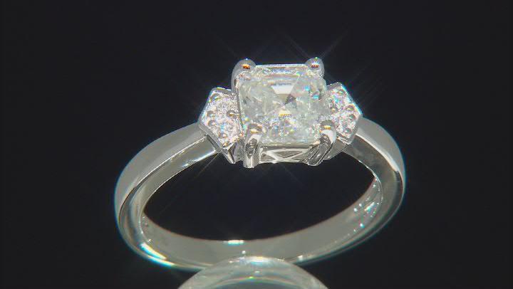 Moissanite Platineve ring 1.58ctw DEW