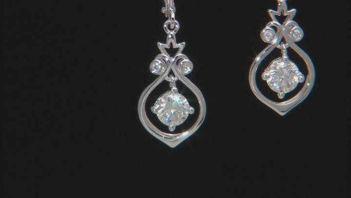 Moissanite Platineve earrings 1.04ctw DEW
