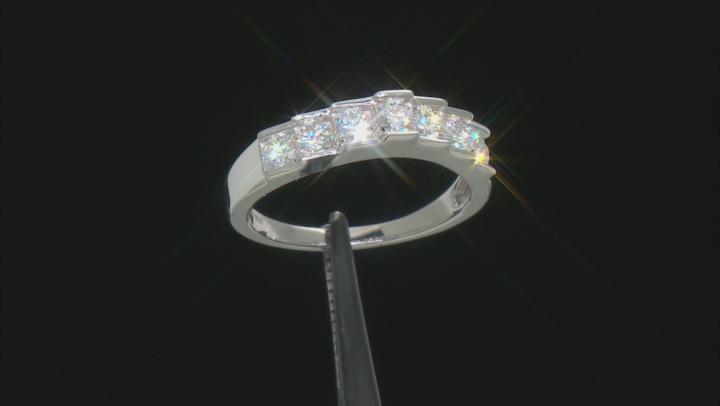 Moissanite Platineve Ring .70ctw DEW.