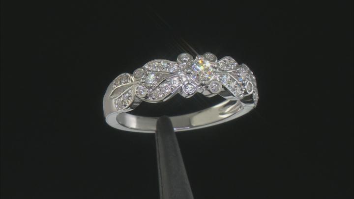 Moissanite Platineve Ring .48ctw DEW.