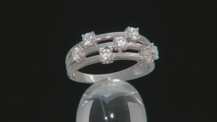 Moissanite Platineve Ring .91ctw DEW.