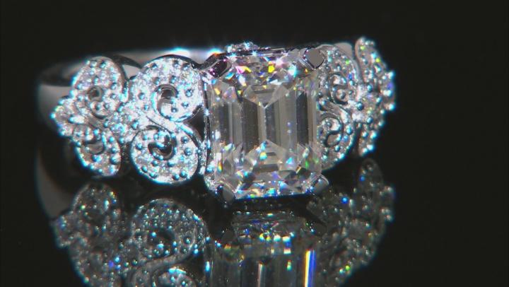 Moissanite Platineve Ring 2.86ctw DEW.
