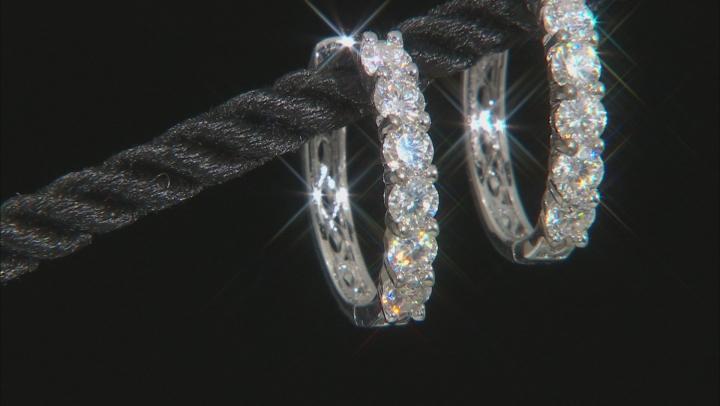Moissanite Platineve Earrings 1.56ctw DEW.