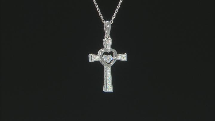 Moissanite Platineve Cross Pendant .41ctw DEW.