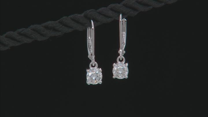 Moissanite Platineve Earrings 1.00ctw D.E.W