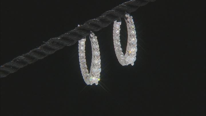 Moissanite Platineve Earrings 1.72ctw DEW.