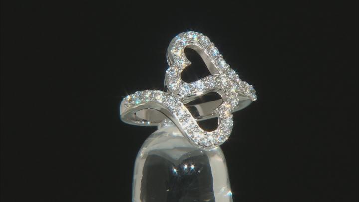 Moissanite Platineve Ring .96ctw DEW