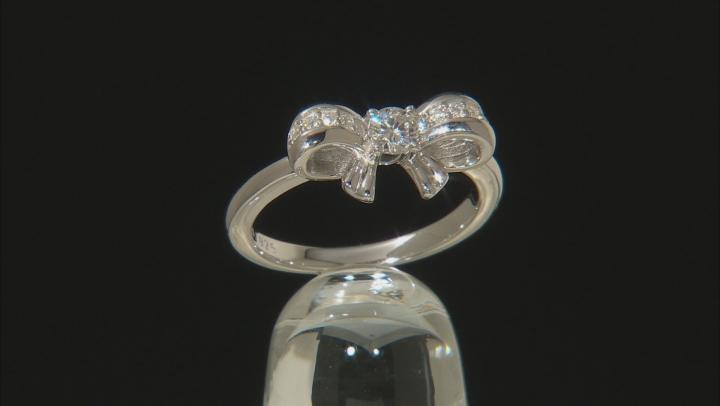 Moissanite Platineve Ring .33ctw DEW