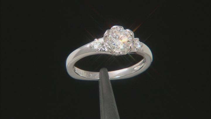 Moissanite Platineve Ring 1.10ctw DEW