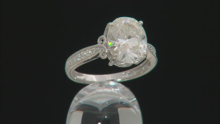Moissanite Platineve Ring 4.34ctw DEW