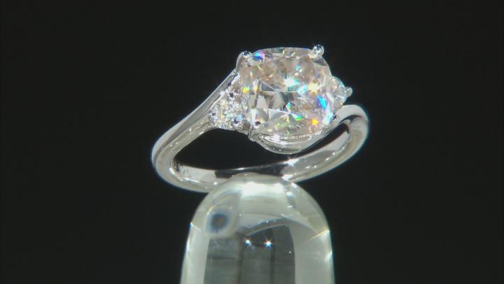 Moissanite Platineve Ring 3.50ctw DEW